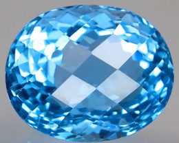 30.96 ct. 100% Natural Earth Mined Top Quality Blue Topaz Brazil