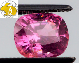 VIVID & GLOWING! Cert. 1.41 CT Rich Neon Pink Mahenge Spinel FREE Shipping!