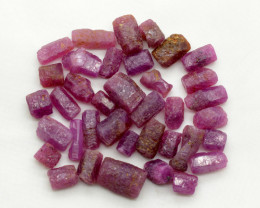 155 CT Natural Top Ruby Crystals@Madagas