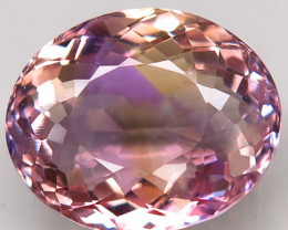Unheated 15.66 ct. 100% Natural Bi Colors Purple Yellow Ametrine