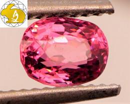 Cert. Unheated 1.08 CT Deep Pinkish Purple Mahenge Spinel FREE Shipping!