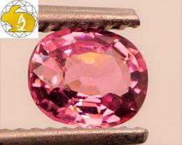 Cert. Unheated 0.91 CT Pink-Purple Mahenge Spinel FREE Shipping!