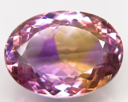 Unheated 20.81 ct. 100% Natural Bi Colors Purple Yellow Ametrine