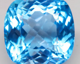 30.55 ct. 100% Natural Top Swiss Blue Topaz Brazil
