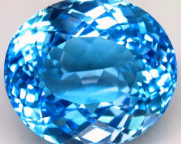 44.05 ct. Natural Swiss Blue Topaz Top Quality Gemstone Brazil