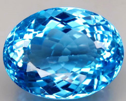 32.85 ct. 100% Natural Top Swiss Blue Topaz Brazil