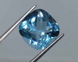 11.23 Carat VVS Topaz Swiss Blue  Amazing Color and Polish !