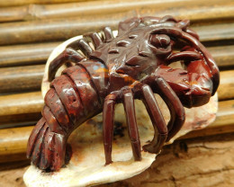 Agate carved gemstone craft lobster decoration art
