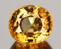 2.52 Cts Natural Sparkling Zircon Imperial Color Oval Tanzania