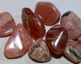 RHODOCHROSITE PARCEL OF 9 STONES 99.15CTS ADG-196