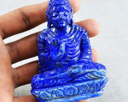 Genuine 713.00 Cts Blue Lapis Lazuli Buddha