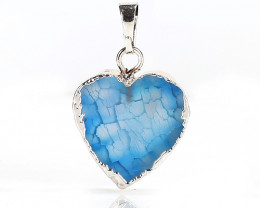 New! Silver Plated Crystal cluster Stone Heart Pendant Jewelry for Women J0