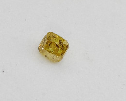 0.16ct  Fancy Intense Brownish Yellow  Diamond , 100% Natural Untrea