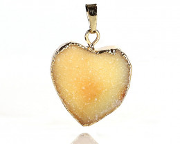 New! Gold Plated Crystal cluster Stone Heart Pendant Jewelry for Women J027