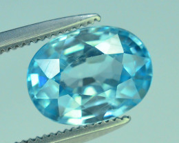 AAA Brilliance 2.65 ct Blue Zircon Cambodia