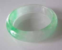 NEW ARRIVAL  GRADE A JADE/JADEITE BANGLE  59 mm