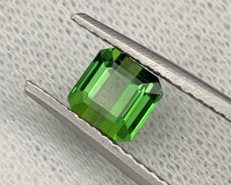 ''NR''1.35 Cts Top Quality Natural Parrot Green Color Tourmaline