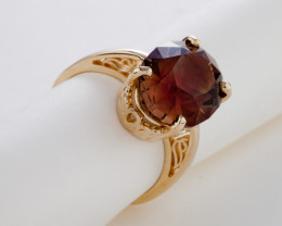 11.14ct Pink Green Sunstone Gold Ring (S153R)