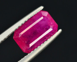 Superb Color 2.55  Ct Natural No Heat Ruby From Mozambique