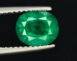 Top Color 1.10 Ct Natural Emerald From Punjshir