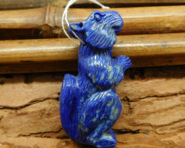Lapis lazuli craft squirrel animal pendant (G1227)
