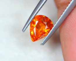 1.23Ct Mandarin Garnet Pear Cut Lot LZB591