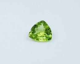 3.75 Carat Bright Green Himalayan Peridot Facet Trillion Gemstone, 100% Nat