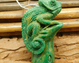 Chameleon pendant craft animal carvings (G1232)