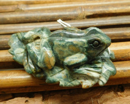 Ocean jasper carving frog animal stone craft (G1235)