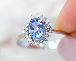 Natural Tanzanite in Silver Princess Ring F19F