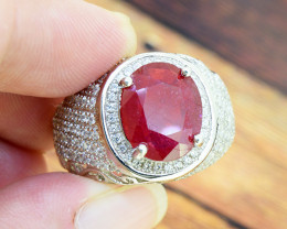 Ruby Gents925 Sterling Silver Ring SIZE 9 US  (SSR0530 )