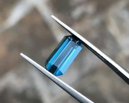 1.75 Ct Natural Blue Indicolite Transparent Tourmaline Gemstone