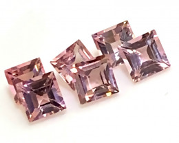 6 Piece Premium Pink Tourmaline Parcel 4.00mm Superb quality