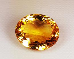7.22 ct Top Grade Gem Golden Whisky Color Natural Citirine