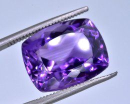 9.75 Crt Natural Amethyst Faceted Gemstone.( AB 10)