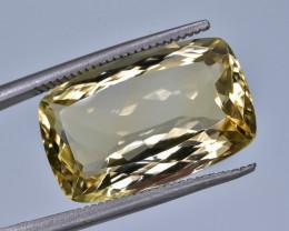 10.67 Crt Natural Citrine Faceted Gemstone.( AB 10)