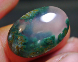 18.65 CT UNTREATED Beautiful Indonesian Moss Agate Picture