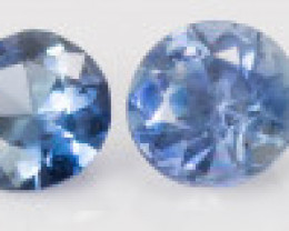 2.50 mm Sapphire 0.90 ct  Sri Lanka GPC Lab