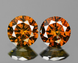 0.35 Cts SPARKLING RARE FANCY BROWN COLOR NATURAL DIAMOND