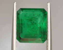 SSEF Certified 4.250 ct Natural Vivid Green Color Emerald~Swat