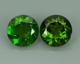 1.80 Cts MARVELOUS RARE ROUND 6 MM NATURAL TOP GREEN- CHROME DIOPSIDE DAZZL