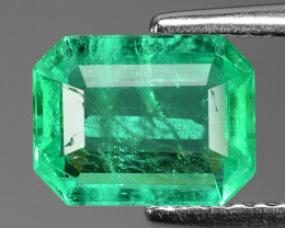 1.33 Cts NATURAL EARTH MINED GREEN COLOR COLOMBIAN EMERALD LOOSE GEMSTONE
