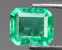 1.19 Cts NATURAL EARTH MINED GREEN COLOR COLOMBIAN EMERALD LOOSE GEMSTONE