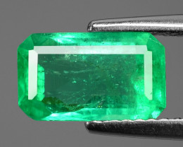 1.83 Cts NATURAL EARTH MINED GREEN COLOR COLOMBIAN EMERALD LOOSE GEMSTONE