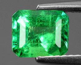 1.05 Cts NATURAL EARTH MINED GREEN COLOR COLOMBIAN EMERALD LOOSE GEMSTONE