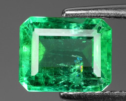 1.71 Cts NATURAL EARTH MINED GREEN COLOR COLOMBIAN EMERALD LOOSE GEMSTONE