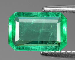 1.12 Cts NATURAL EARTH MINED GREEN COLOR COLOMBIAN EMERALD LOOSE GEMSTONE