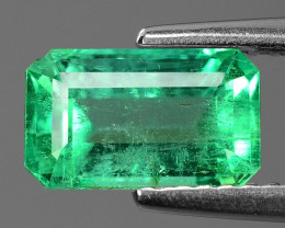 1.90 Cts NATURAL EARTH MINED GREEN COLOR COLOMBIAN EMERALD LOOSE GEMSTONE