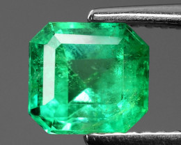 1.48 Cts NATURAL EARTH MINED GREEN COLOR COLOMBIAN EMERALD LOOSE GEMSTONE