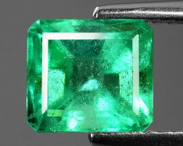 1.72 Cts NATURAL EARTH MINED GREEN COLOR COLOMBIAN EMERALD LOOSE GEMSTONE